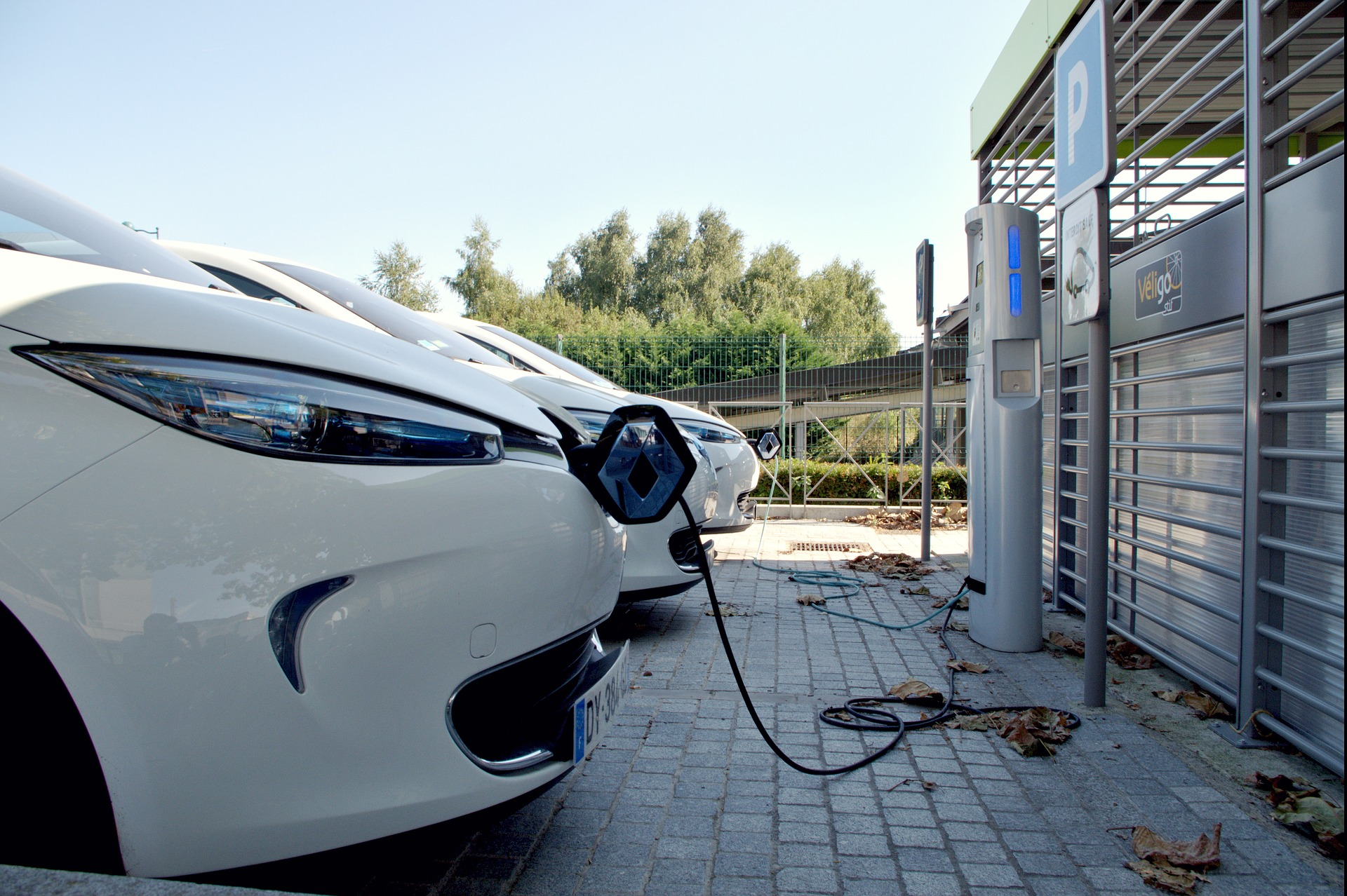 Borne de recharge voiture